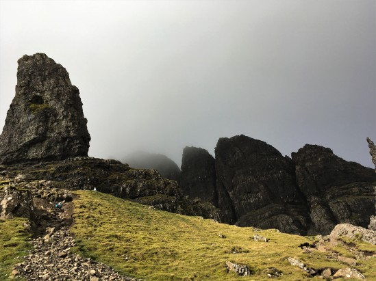 Old man of Storr Isle of Skye hiking travel Scotland